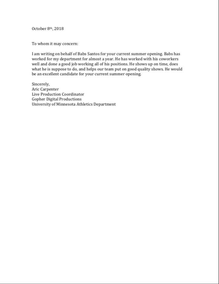 Jinadu Recommendation Letter